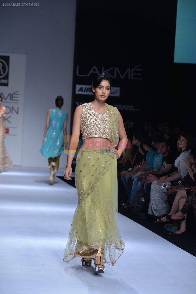 Model walk the ramp for Rehane Show at Lakme Fashion Week 2013 Day 1 in Grand Hyatt, Mumbai on 22nd March 2013