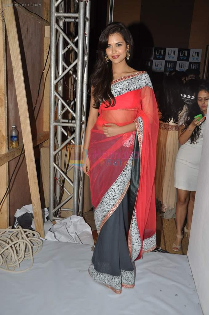 Esha Gupta at Manish Malhotra Show at Lakme Fashion Week 2013 Day 1 in Grand Hyatt, Mumbai on 22nd March 2013