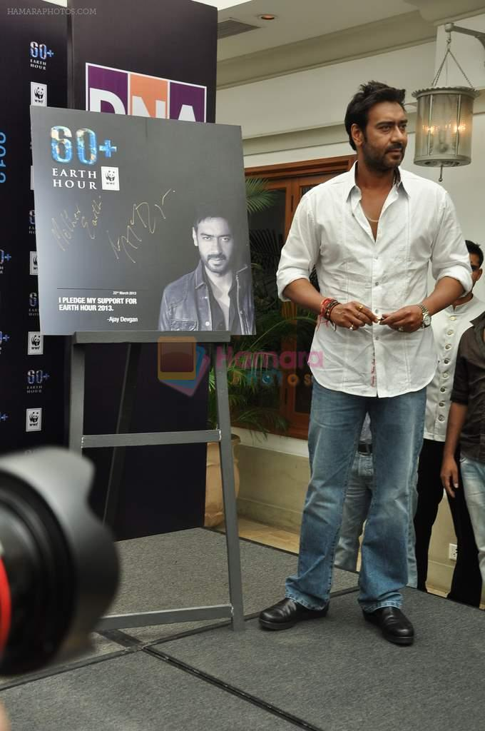 Ajay Devgan at Earth Hour event in Andheri, Mumbai on 22nd March 2013