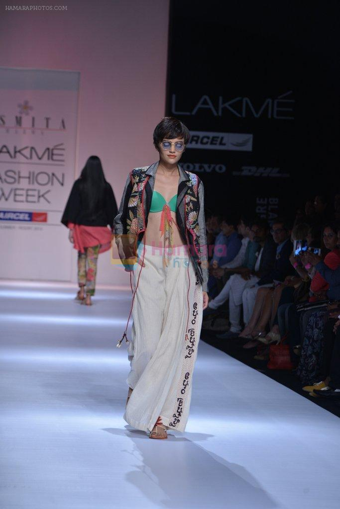 Model walk the ramp for Asmita Marwa Show at Lakme Fashion Week 2013 Day 1 in Grand Hyatt, Mumbai on 22nd March 2013