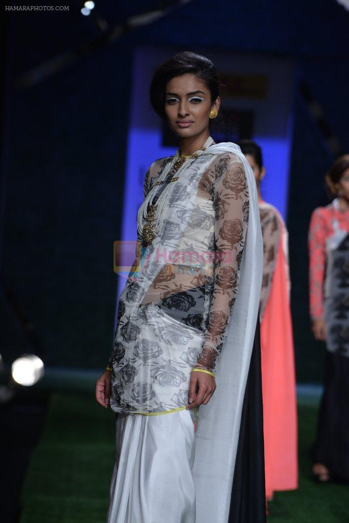 Model walk the ramp for Masaba Show at Lakme Fashion Week 2013 Day 1 in Grand Hyatt, Mumbai on 22nd March 2013