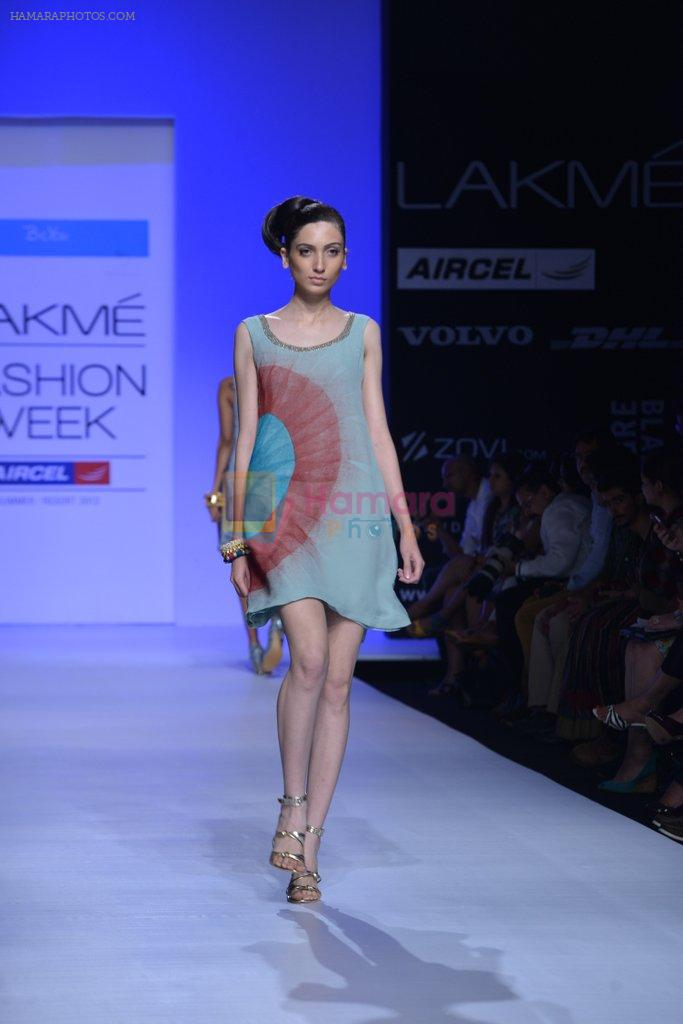 Model walk the ramp for Debarun Show at Lakme Fashion Week 2013 Day 1 in Grand Hyatt, Mumbai on 22nd March 2013