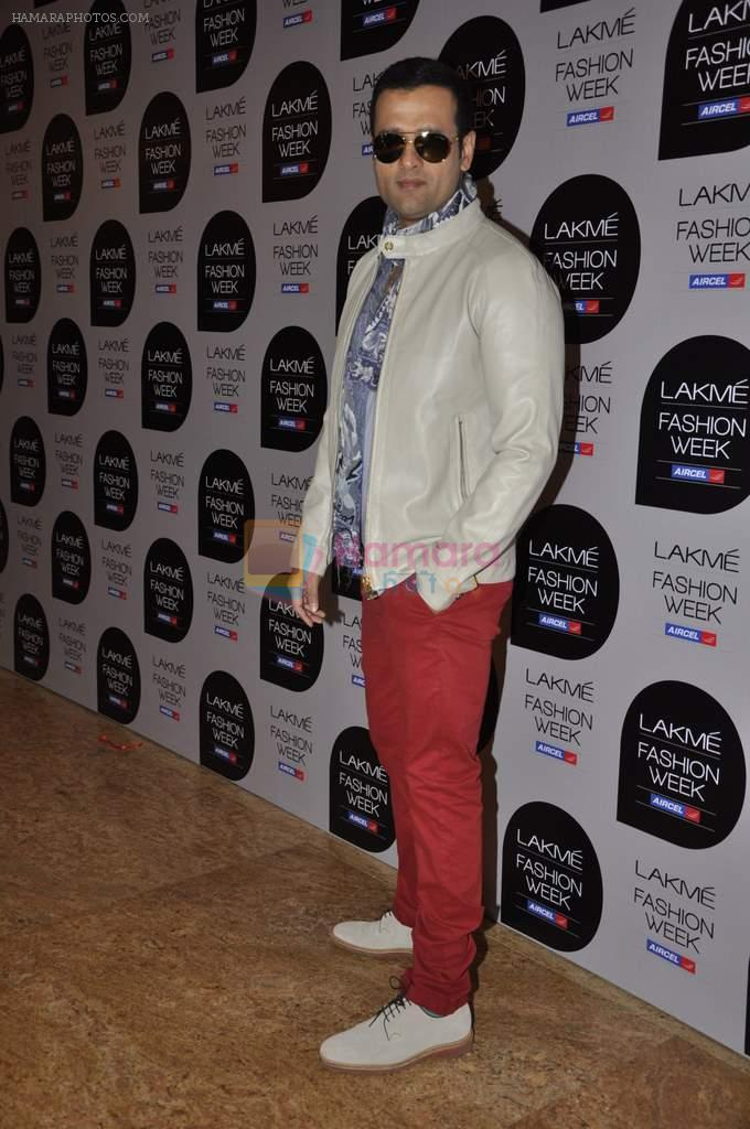 Rohit Roy on Day 1 at Lakme Fashion Week 2013 in Grand Hyatt, Mumbai on 22nd March 2013