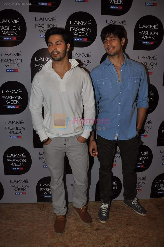 Varun Dhawan at Manish Malhotra Show at Lakme Fashion Week 2013 Day 1 in Grand Hyatt, Mumbai on 22nd March 2013