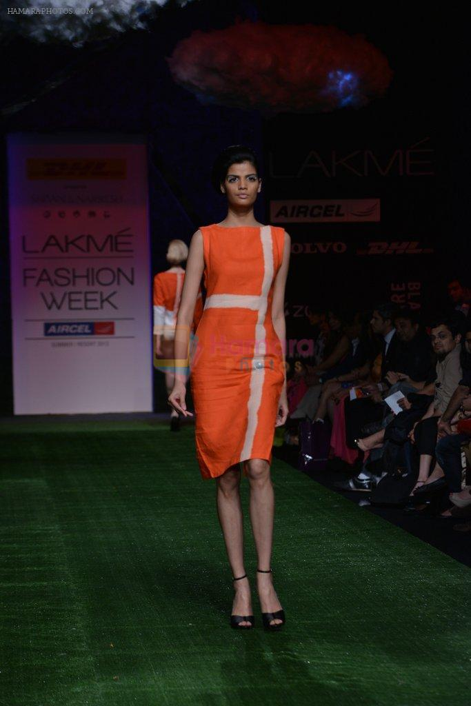 Model walk the ramp for Shivan Naresh Show at Lakme Fashion Week 2013 Day 1 in Grand Hyatt, Mumbai on 22nd March 2013