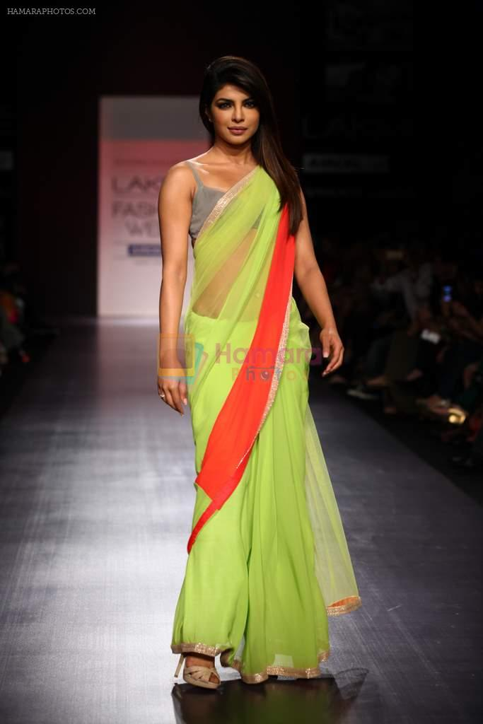 Priyanka Chopra walk the ramp for Manish Malhotra Show at Lakme Fashion Week 2013 Day 1 in Grand Hyatt, Mumbai on 22nd March 2013