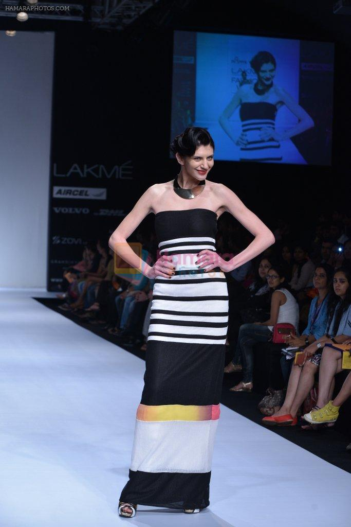 Model walk the ramp for Arpan Vohra Show at Lakme Fashion Week 2013 Day 1 in Grand Hyatt, Mumbai on 22nd March 2013