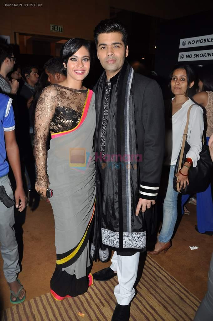 Kajol, Karan Johar at Manish Malhotra Show at Lakme Fashion Week 2013 Day 1 in Grand Hyatt, Mumbai on 22nd March 2013