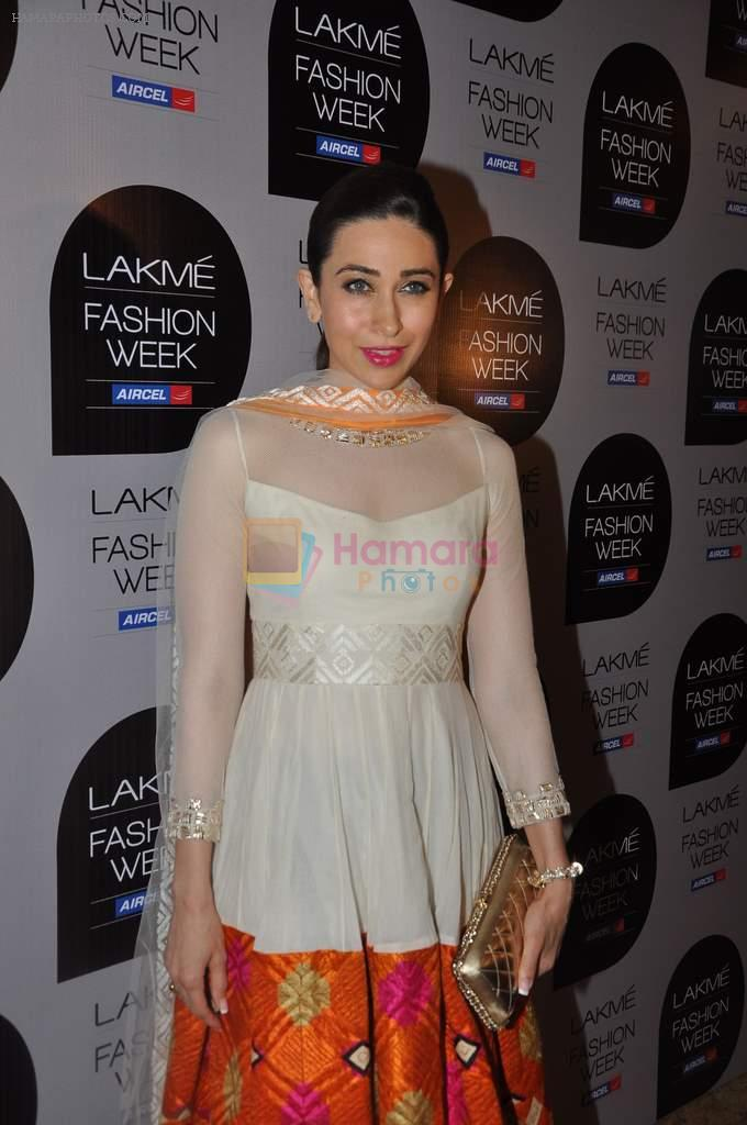 Karisma Kapoor at Manish Malhotra Show at Lakme Fashion Week 2013 Day 1 in Grand Hyatt, Mumbai on 22nd March 2013