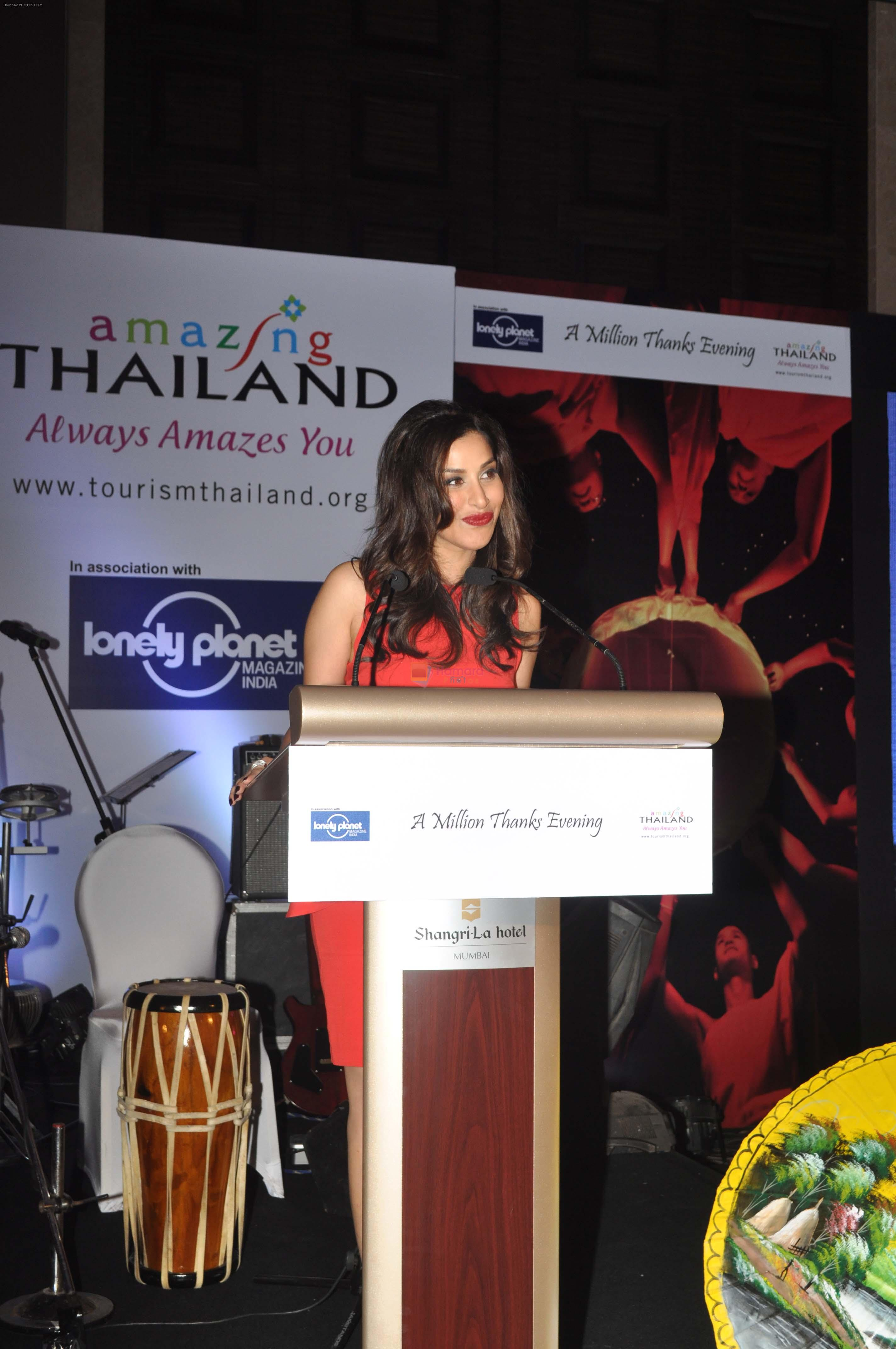 Sophie Chaudhary at A Million Thanks Evening Event Presented by Lonely Planet & Thailand Tourism at Shangri La in Mumbai on 22nd March 2013