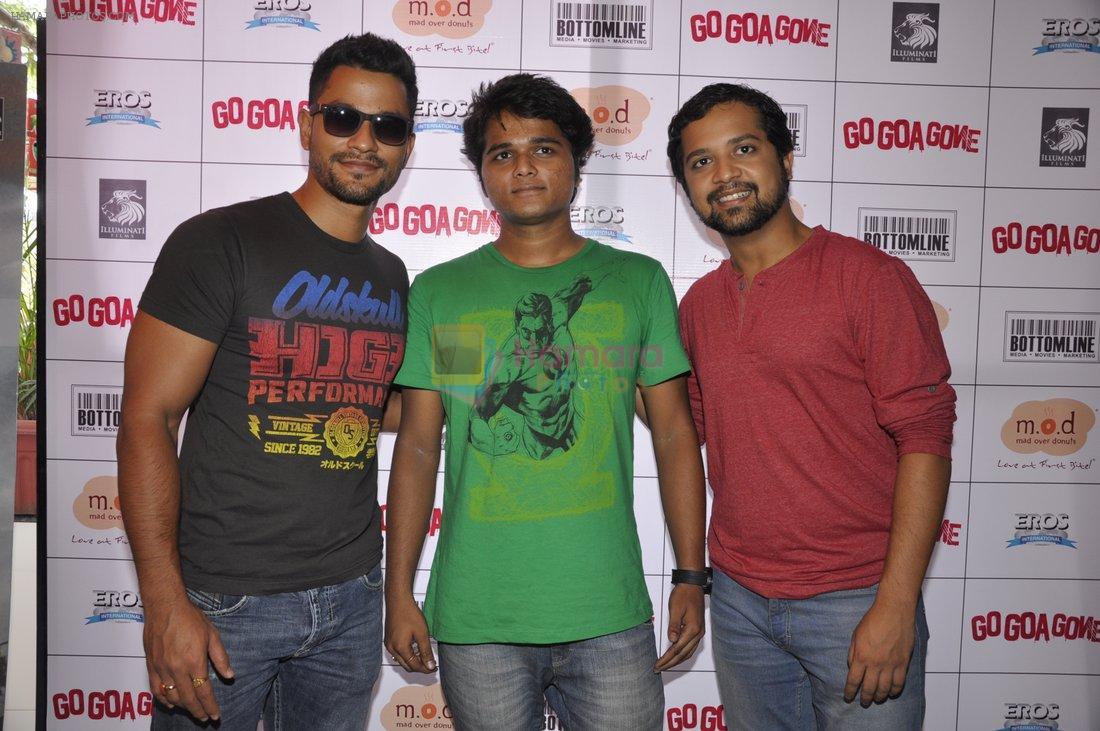Kunal Khemu,  Anand Tiwari at Go Goa Gone promotions at MOD in Bandra, Mumbai on 7th May 2013
