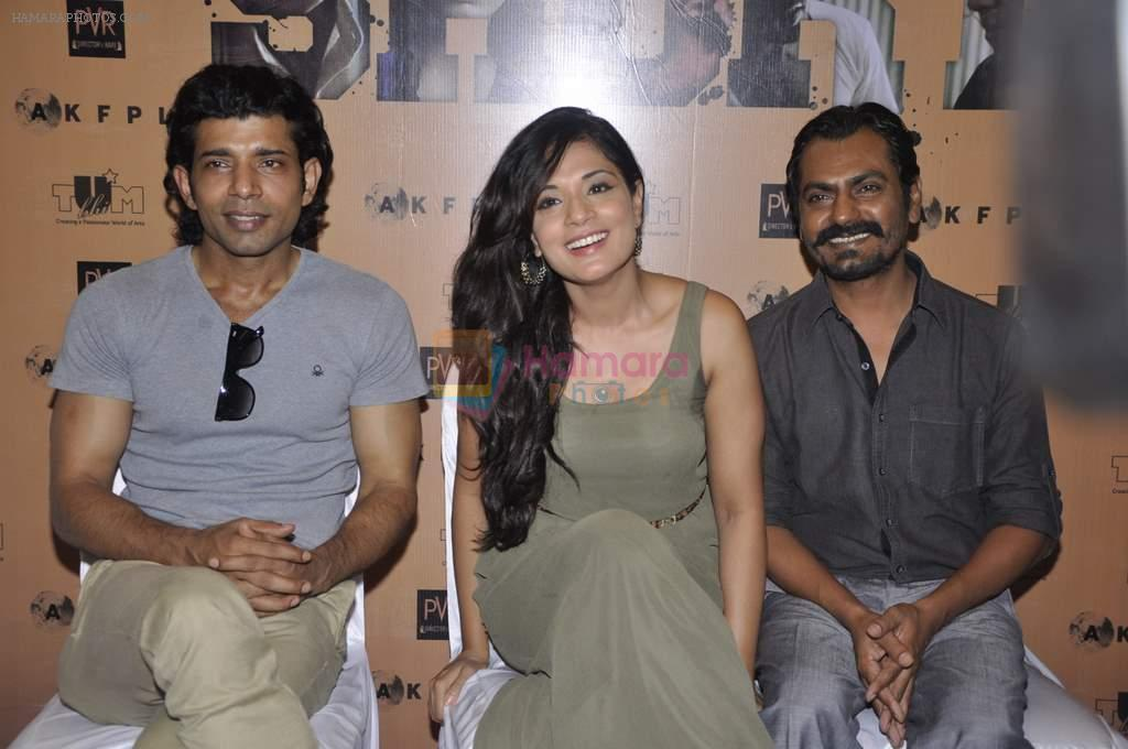 Richa Chadda,Vineet Kumar Singh, Nawazuddin Siddiqui at the unveiling of the film Shorts in Cinemax, Mumbai on 24th June 2013
