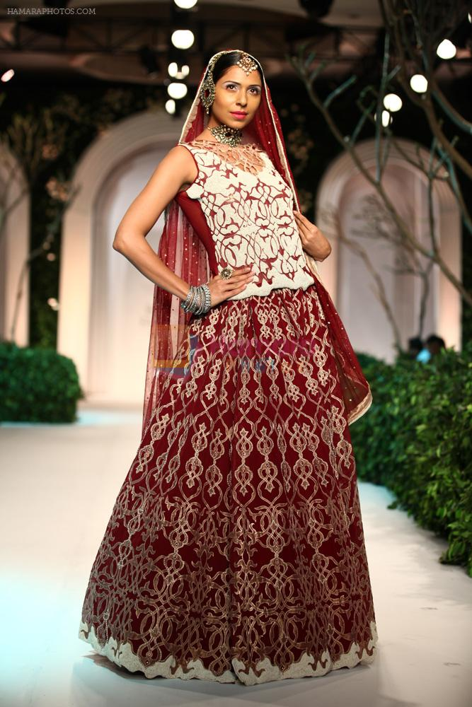 Model walk the ramp for Meera Mussafar Ali showcase 2013 bridal collection in Delhi on 24th July 2013