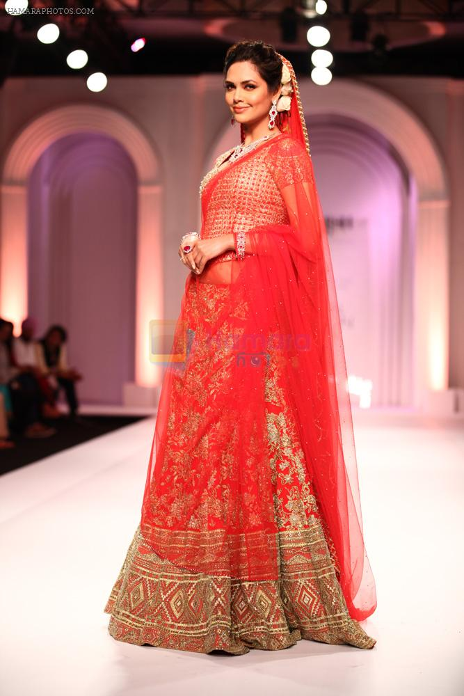 Esha Gupta walks for Designer Adarsh Gill in Delhi on 27th July 2013