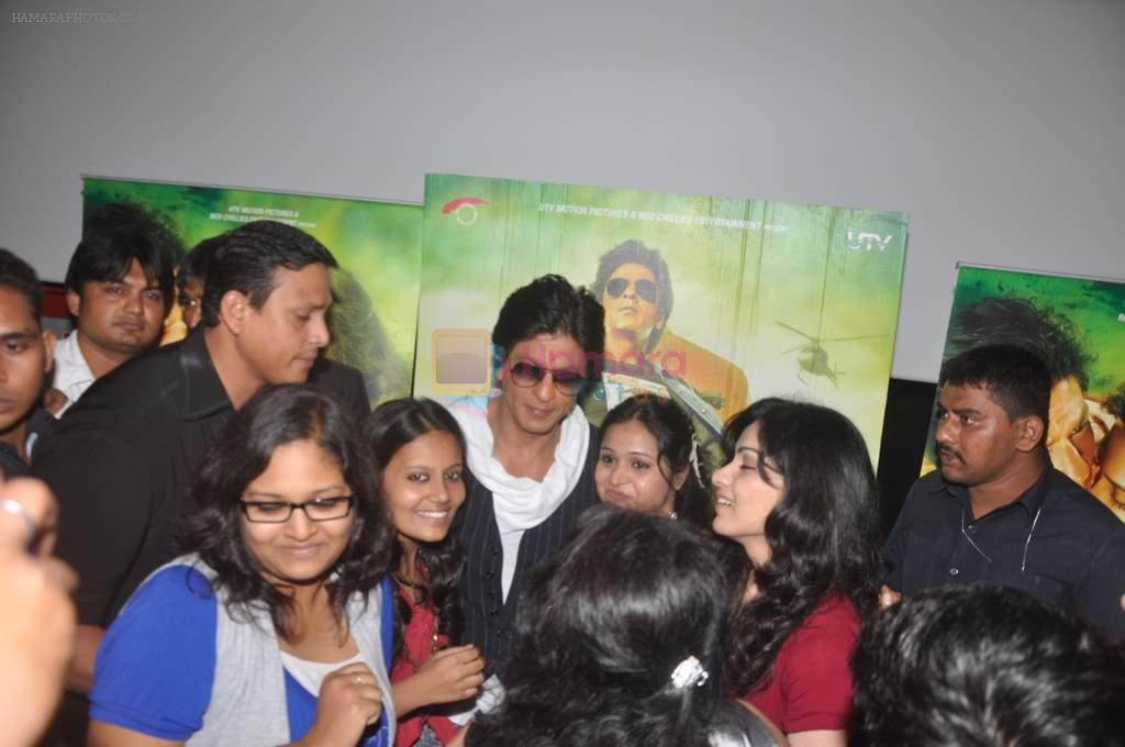 Shahrukh Khan visits Fun Cinemas in Bhopal to promote Chennai Express on 27th July 2013