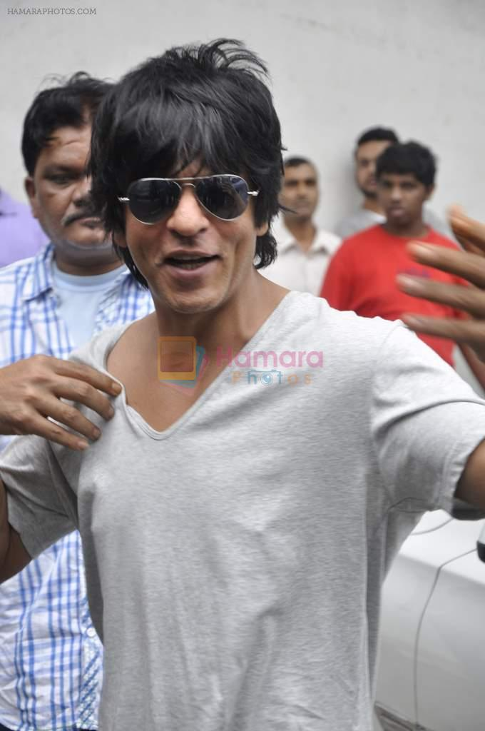 Shahrukh Khan on the sets of Indian Idol Junior in Filmcity, Mumbai on 28th July 2013