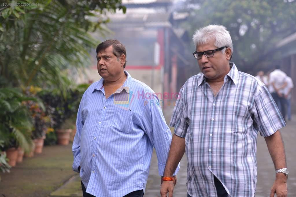 David Dhawan at Anita Raj's Father Jagdish Raj funeral in Vile Parle, Mumbai on 28th July 2013