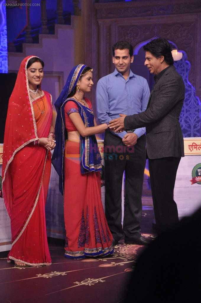 Shahrukh Khan on the sets of Diya aur Baati in Filmcity, Mumbai on 28th July 2013