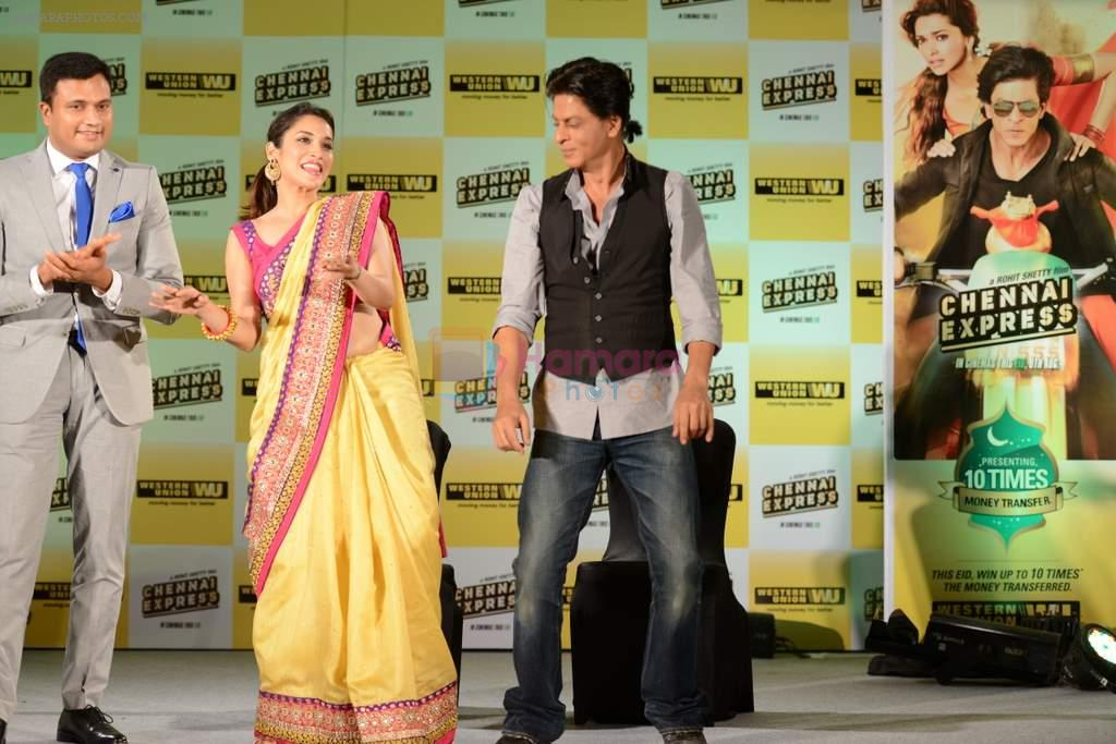 Shahrukh Khan, Rashmi Nigam promotes Chennai Express in association with Western Union in Mumbai on 7th Aug 2013
