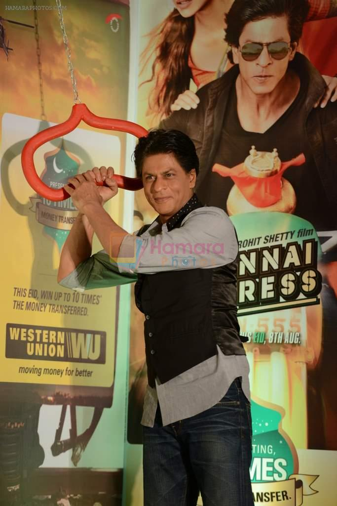 Shahrukh Khan promotes Chennai Express in association with Western Union in Mumbai on 7th Aug 2013