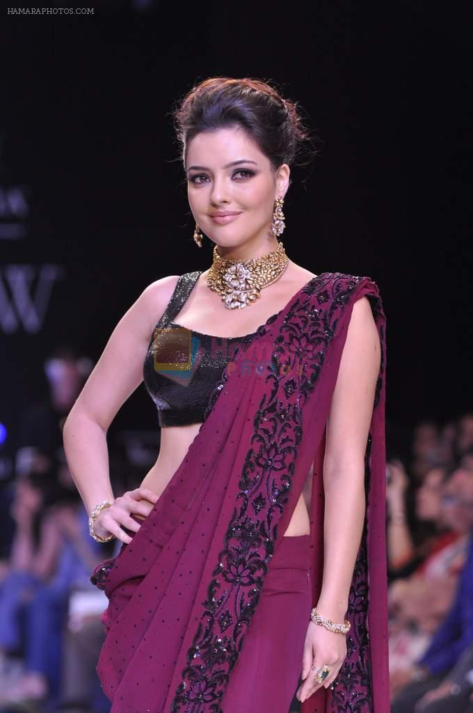 Kristina Akheeva walks the ramp for D.Navinchandra on Day 4 of IIJW 2013 on 7th Aug 2013