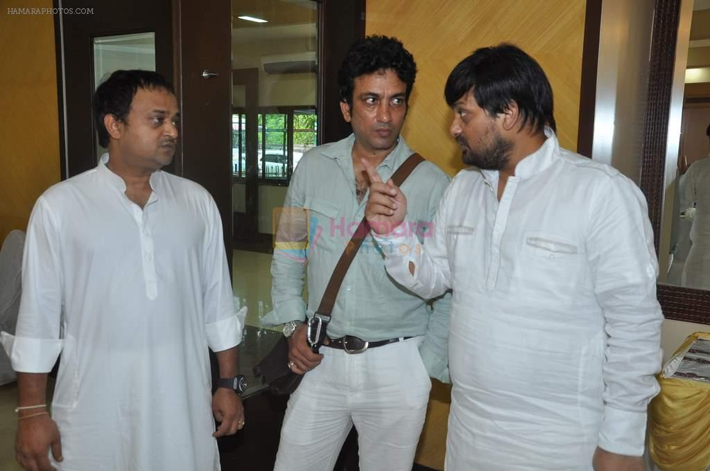 Sajid, Wajid at Sajid-Wajid's father's prayer meet in Mumbai on 11th Aug 2013
