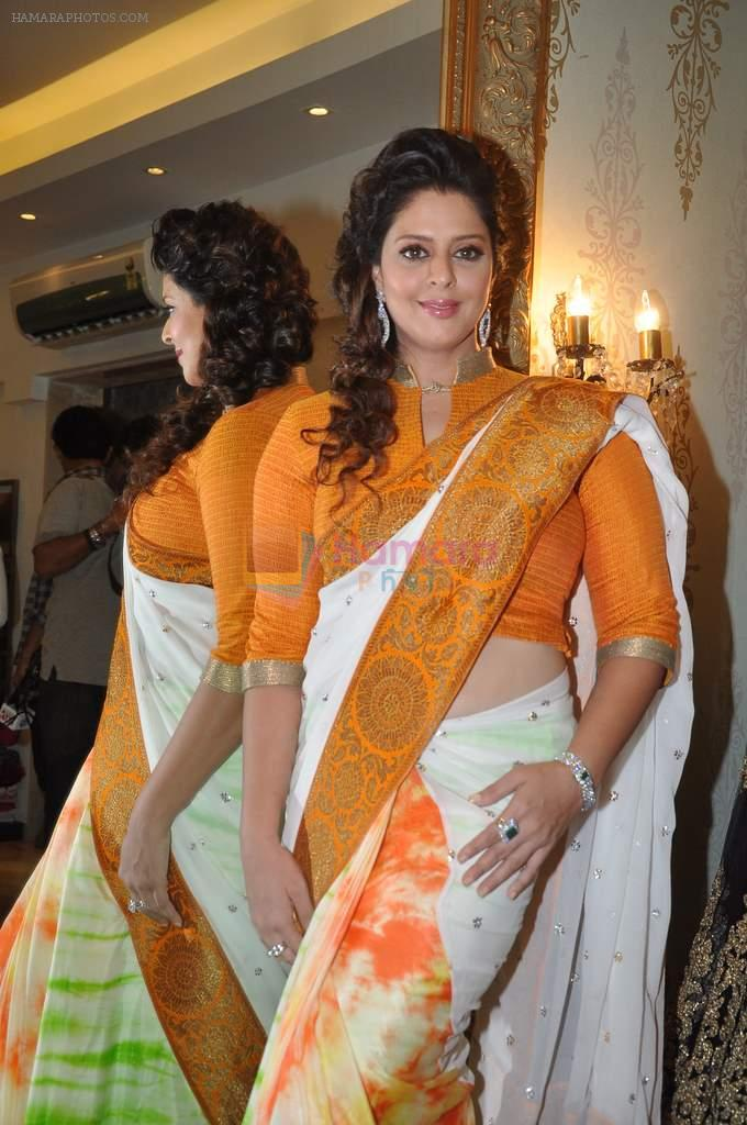 Nagma at Independence day theme look by Amy Billimoria and Doris in Khar, Mumbai on 13th Aug 2013