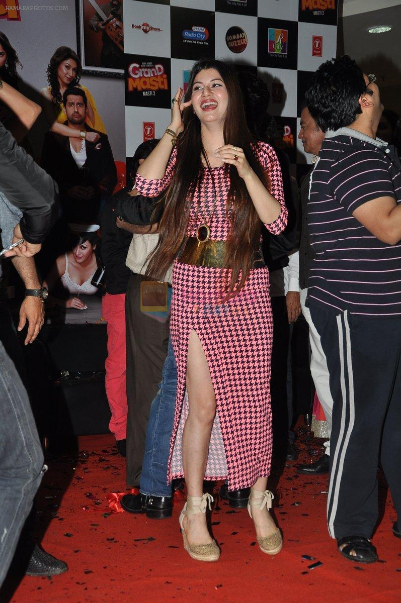 Kainaat Arora at the Music launch of Grand Masti at R-City Mall in Mumbai on 23rd Aug 2013