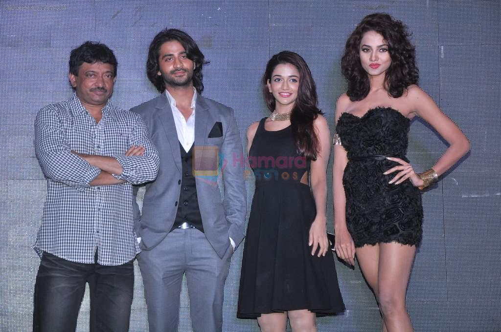 Ram Gopal Varma, Punit Singh Ratn, Anaika Soti, Aleesha Gupta at the launch of Satya in Sun N Sand, Mumbai on 30th Sept 2013