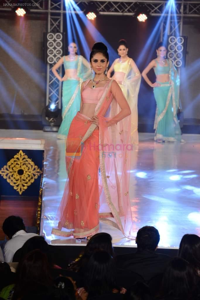 Model walks for Manali Jagtap designer at IIBS on 5th Oct 2013