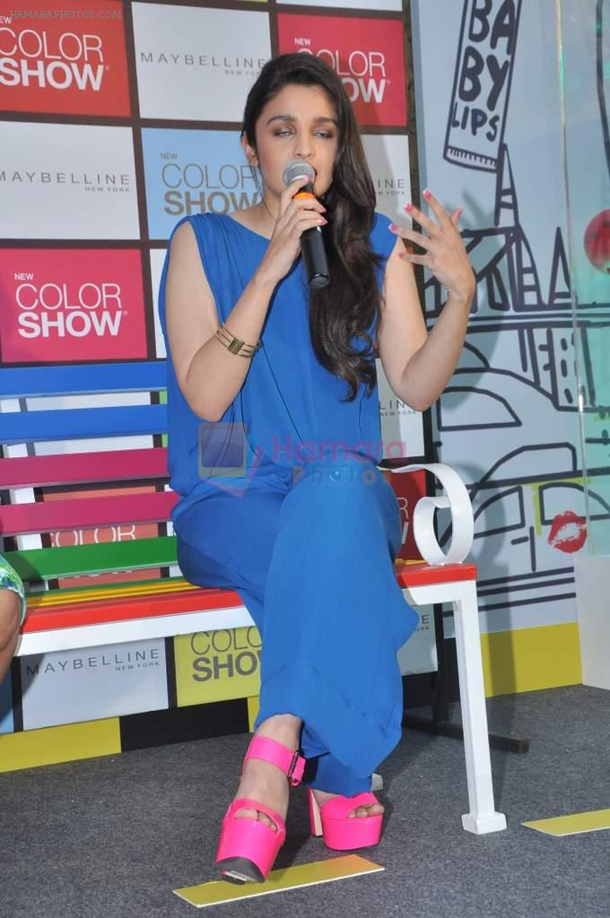 Alia Bhatt launches Maybelline's new color range in Phoenix Mills, Mumbai on 5th Oct 2013