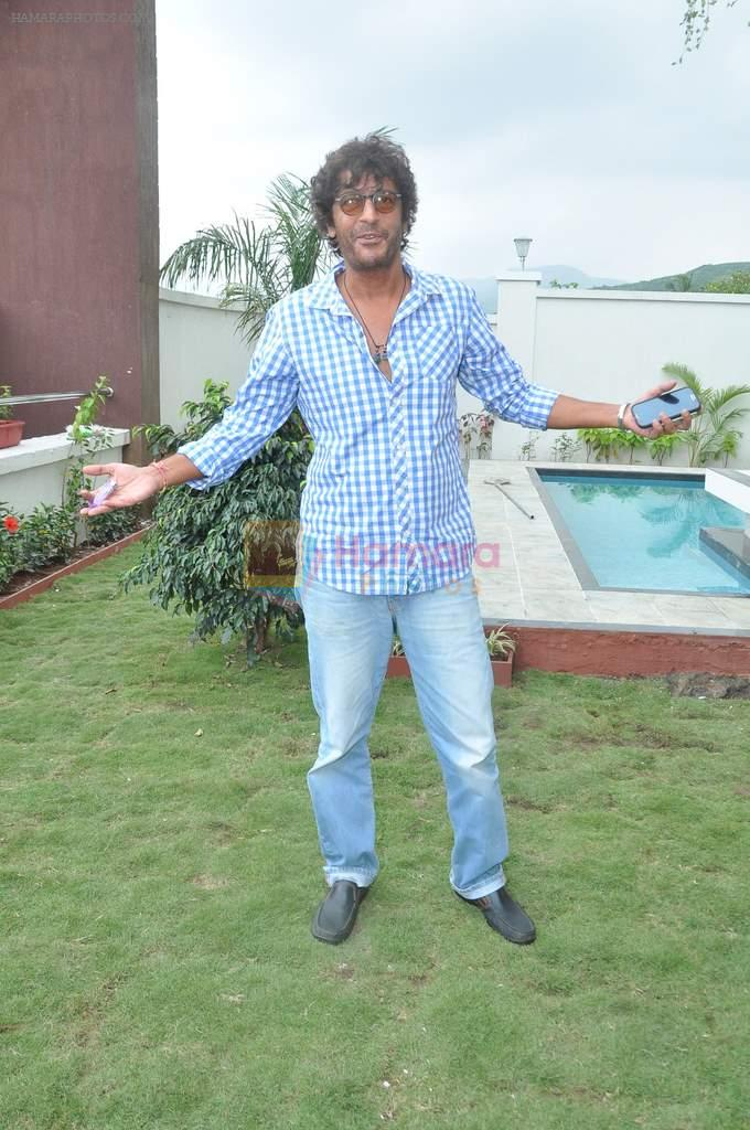 Chunky Pandey at a real estate project launch in Khapoli, Mumbai on 6th Oct 2013