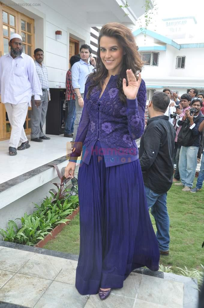 Neha Dhupia at a real estate project launch in Khapoli, Mumbai on 6th Oct 2013