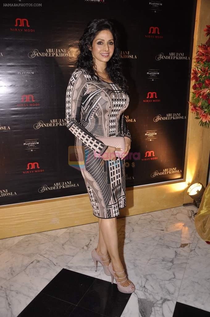 Sridevi at Abu Jani's The Golden Peacock show for Sahachari Foundation in Mumbai on 7th Oct 2013