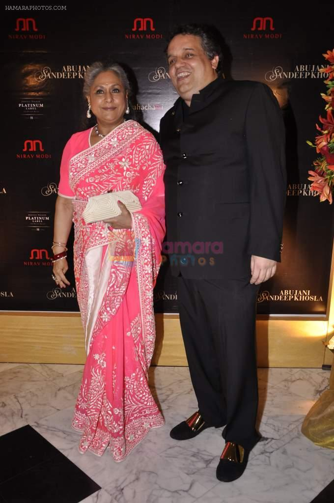 Jaya Bachchan at Abu Jani's The Golden Peacock show for Sahachari Foundation in Mumbai on 7th Oct 2013