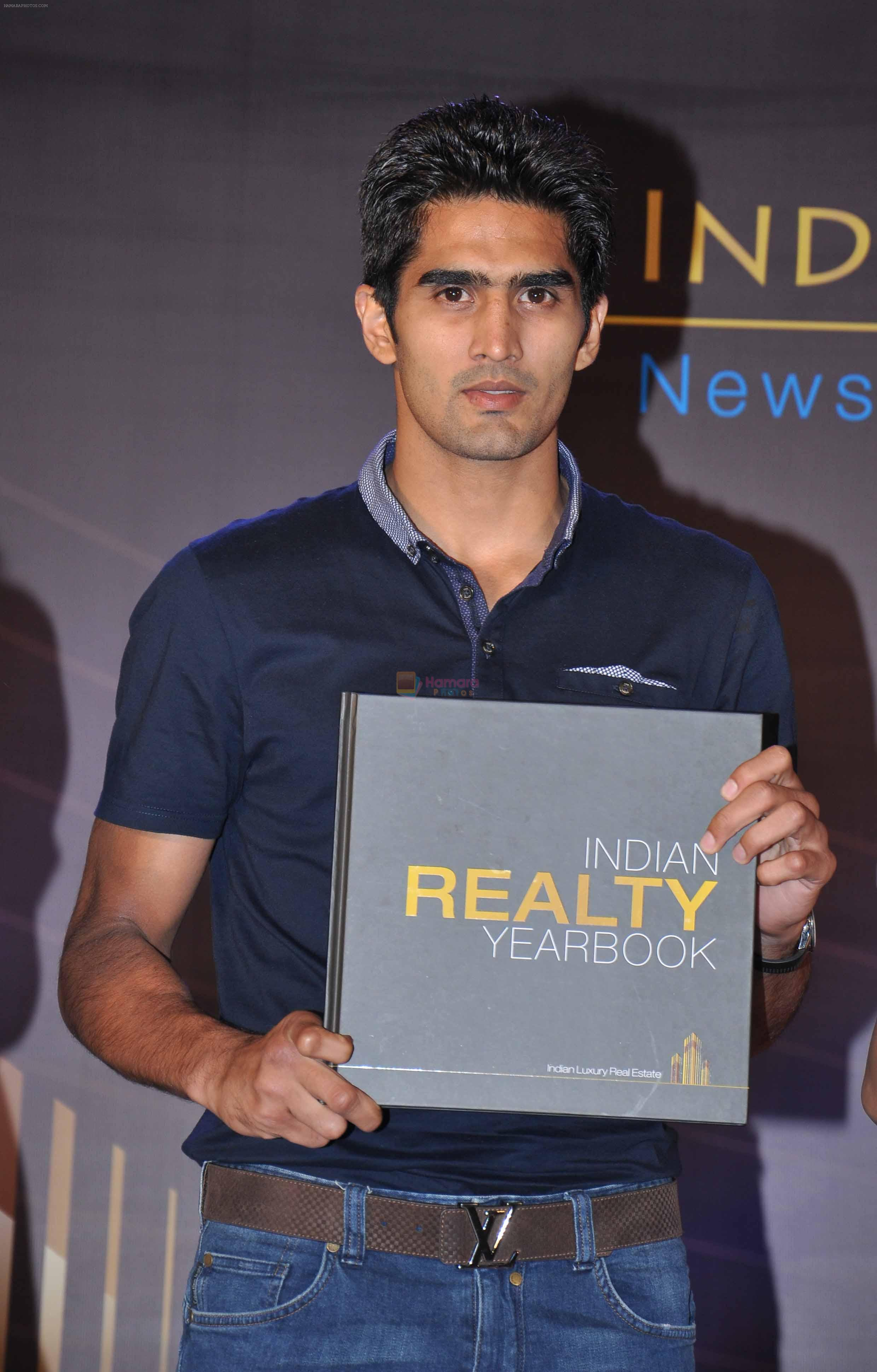 Vijender Singh launch India Realty Yearbook & Real Leaders at The premier Indian Realty Awards 2013 in New Delhi on 8th Oct 2013