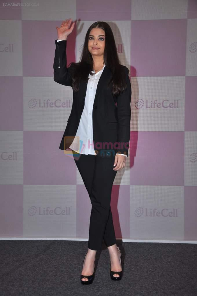 Aishwarya Rai Bachchan launches Life Cell in Mumbai on 7th Oct 2013