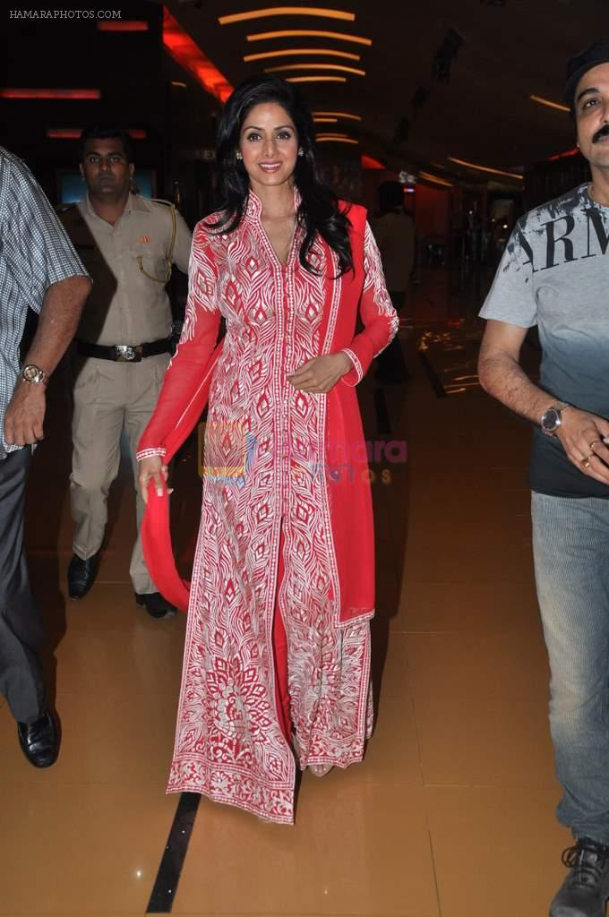 Sridevi at the premiere of bengali Film in Cinemax, Mumbai on 9th Oct 2013