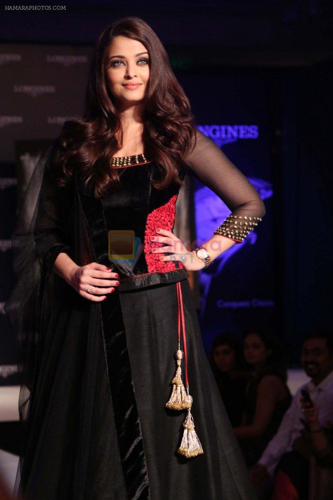 Aishwarya Rai Bachchan at the launch of new collection of Longines Watch in Delhi on 9th Oct 2013