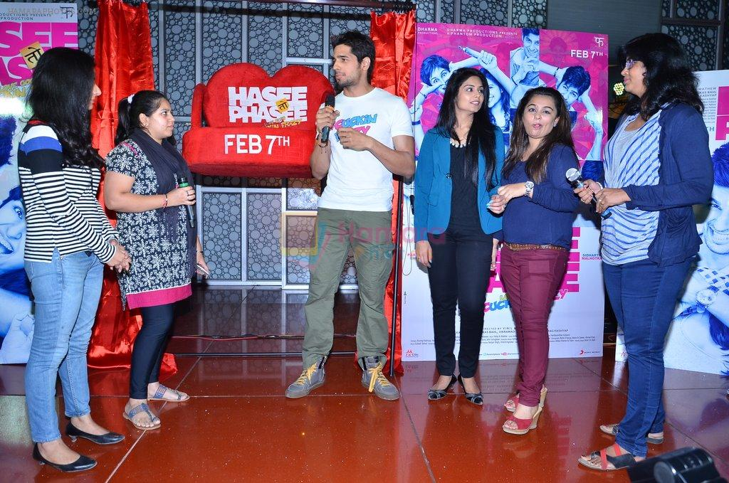 Sidharth Malhotra at Hasee Toh Phasee promotions in Cinemax, Mumbai on 19th Dec 2013