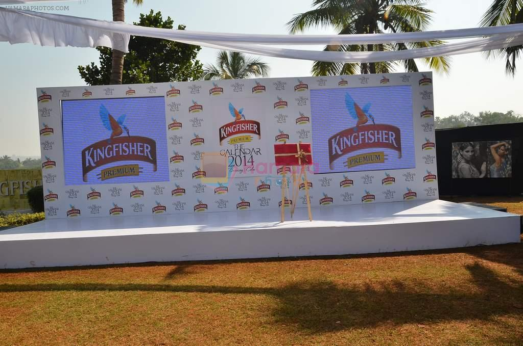 at Kingfisher 2013 calendar launch in Alibaug, Mumbai on 21st Dec 2013