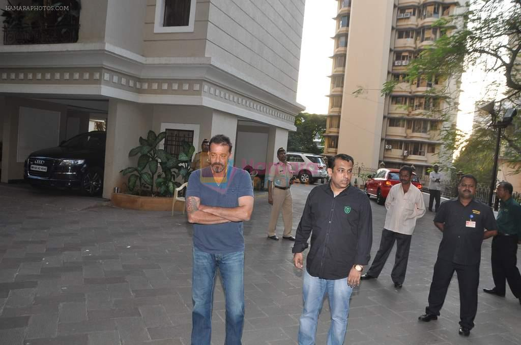 Sanjay Dutt back from jail in Mumbai on 21st Dec 2013