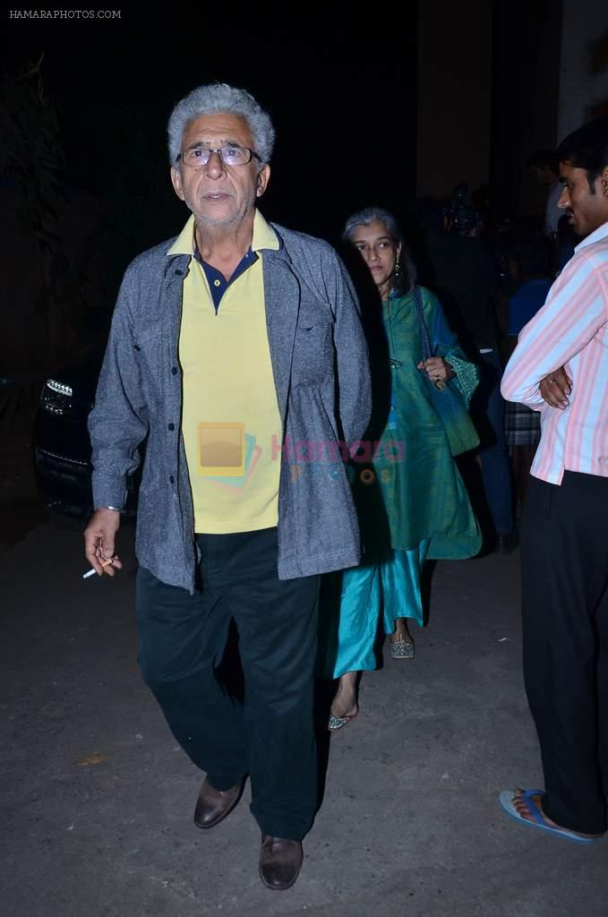Naseeruddin Shah, Ratna Pathak Shah at the special Screening of The WOlf of Wall Street hosted by Anurag Kahyap in Empire, Mumbai on 23rd Dec 2013