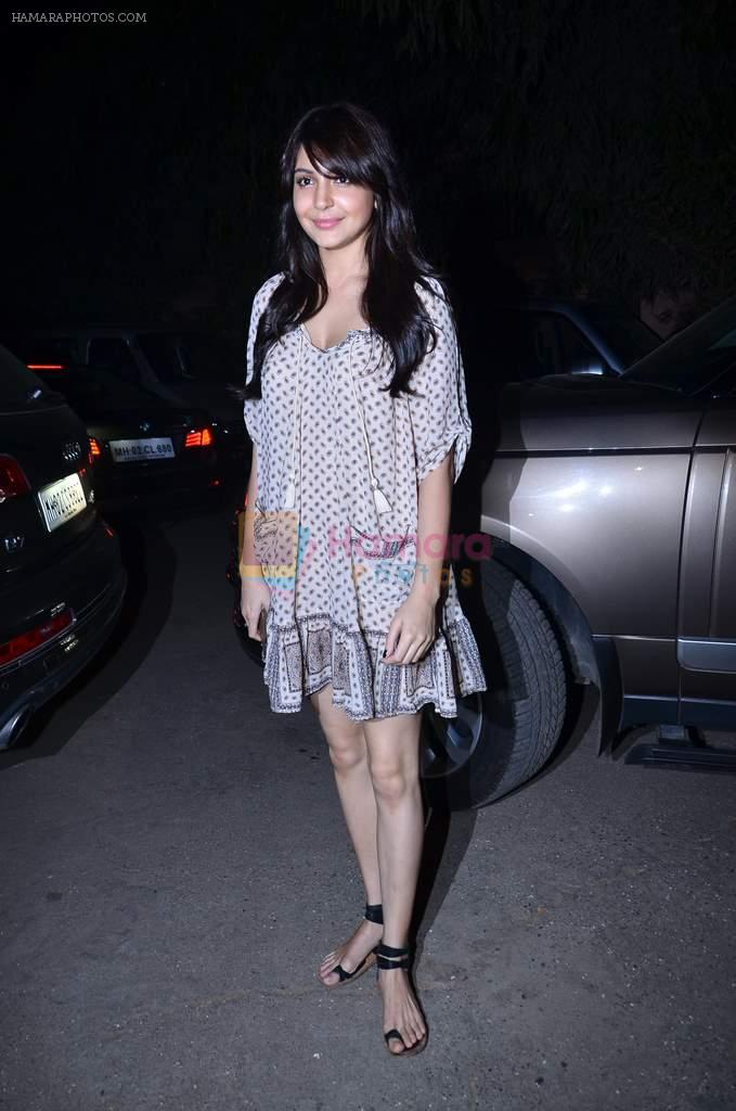 Anushka Sharma at the special Screening of The WOlf of Wall Street hosted by Anurag Kahyap in Empire, Mumbai on 23rd Dec 2013