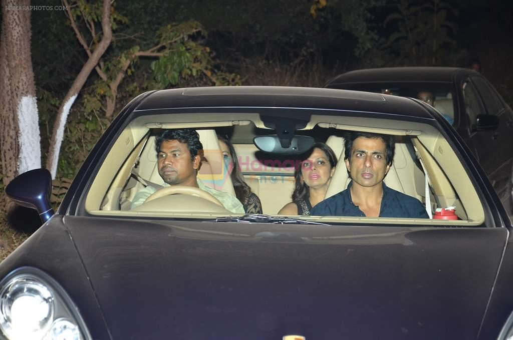 Sonu Sood at Salman's B_day Bash in Panvel, Mumbai on 26th Dec 2013