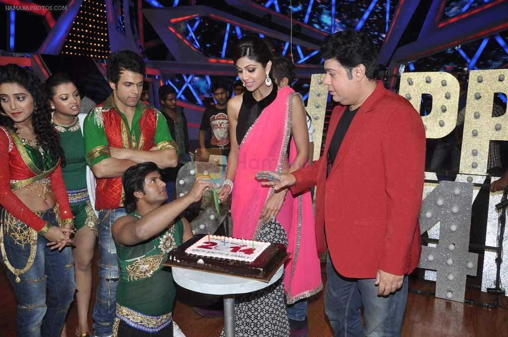 Shilpa Shetty, Sajid Khan at Nach Baliye new year's celeberations in Mumbai on 30th Dec 2013