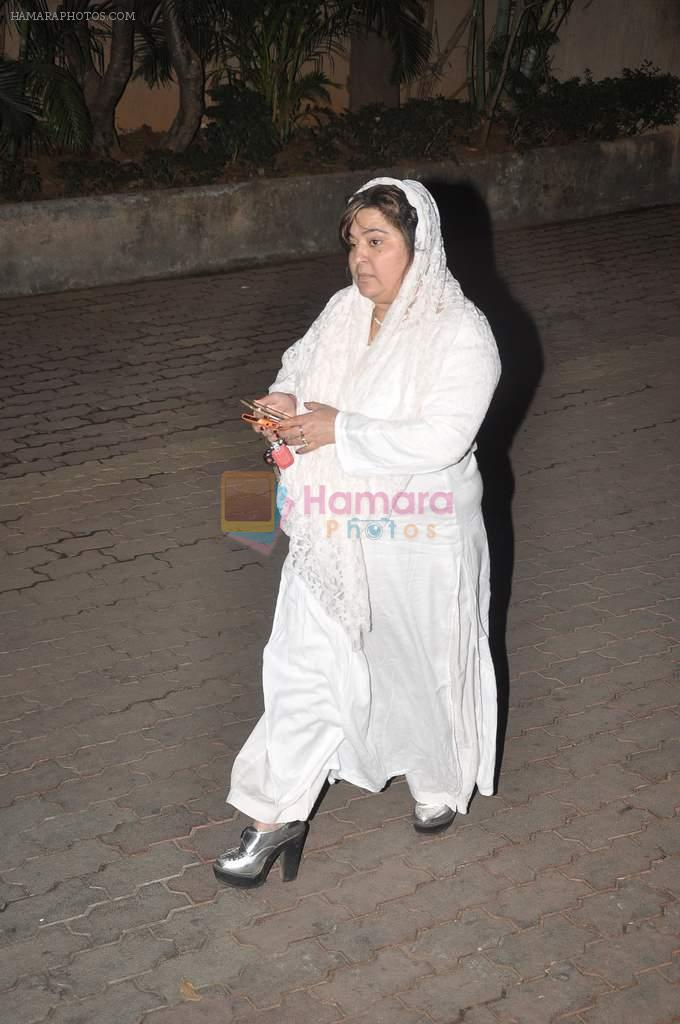 Dolly Bindra at Farooq Shaikh's prayer meet in Mumbai on 30th Dec 2013