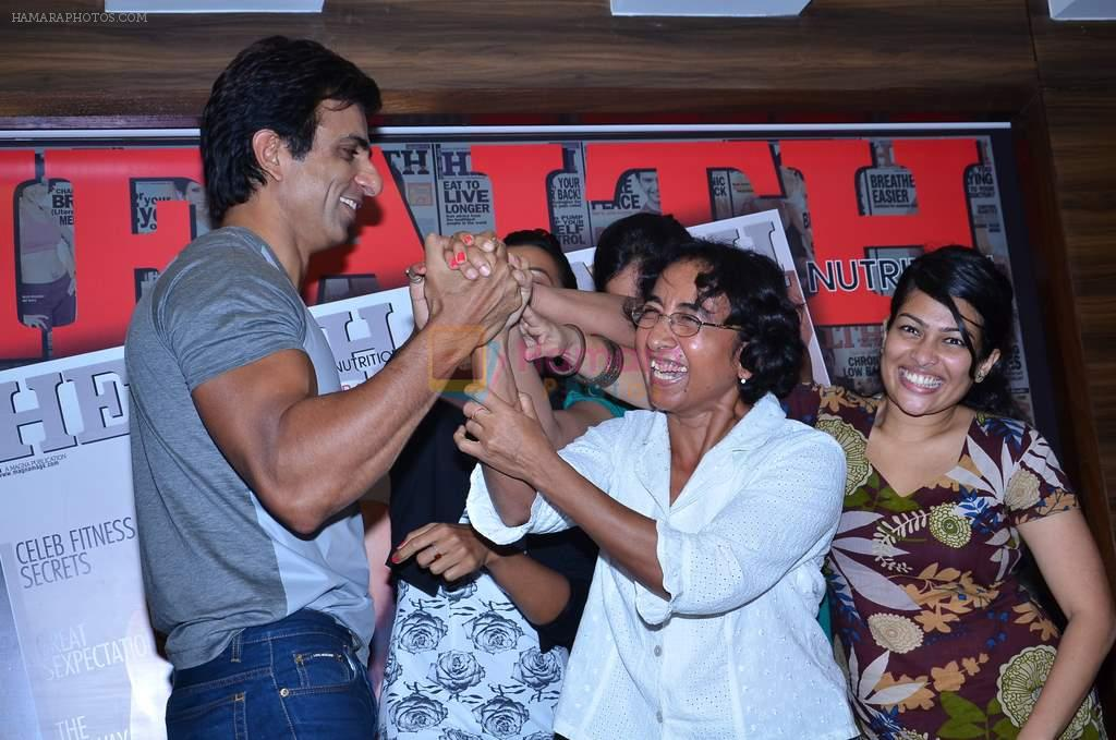 Mugdha Godse and Sonu Sood launch new Health issue in Dadar, Mumbai on 30th Dec 2013