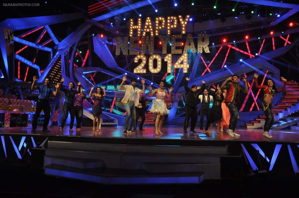at Nach Baliye new year's celeberations in Mumbai on 30th Dec 2013