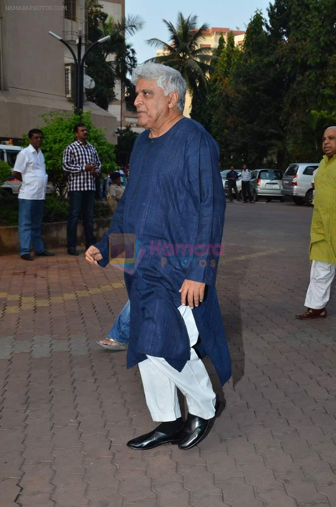 Javed Akhtar at Farooq Shaikh's prayer meet in Mumbai on 30th Dec 2013